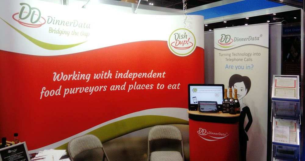 image of DinnerData stand at Restaurant Tech Live 2017