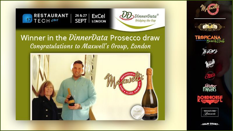 image of DinnerData Prosecco winner Maxwell's Group